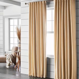 Small Check Blackout Curtain Panel